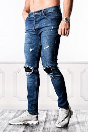 SUPREME AV8 BREAK ORIGINAL BLUE SLIM FIT JEANS