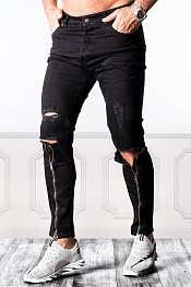 SUPREME AV8 ZIPPER BLACK DX FR CARROT FIT JEANS
