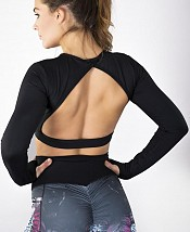 SHAPELAB WORKOUT BACK LESS TOP LONG SLEEVES