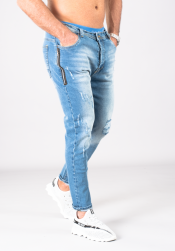 SUPREME AV8 FREEPORT LIGHT BLUE CARROT FIT JEANS