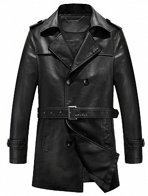 MNKY LEGACY BLACK LONG COAT WINTER SKINNJACKA
