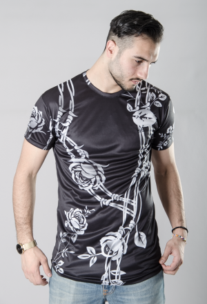 KING BLACK FLOWER TEE