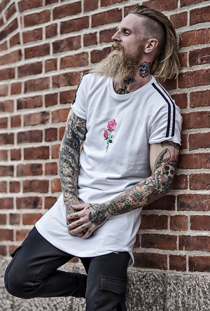 KING FLOWER WHITE TEE