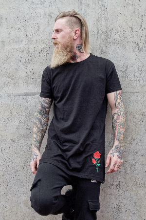 KING SIDE FLOWER BLACK TEE