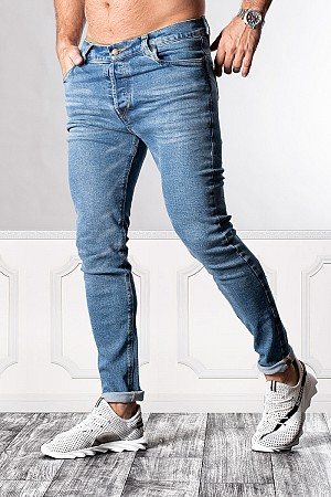 SUPREME AV8 BASIC LIGHT BLUE SLIM FIT JEANS