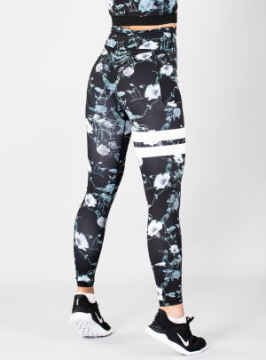 SHAPELAB FLORAL SCRUNCH LEGGINGS
