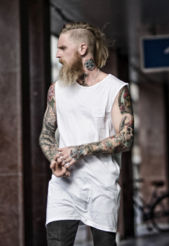 KING GHOST WHITE TANKTOP