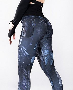 SHAPELAB PLUMA DARK SCRUNCH LEGGINGS