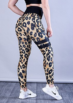 SHAPELAB LEOBEAUTY SCRUNCH LEGGINGS