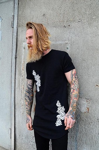KING FLOWER SIK BLACK TEE